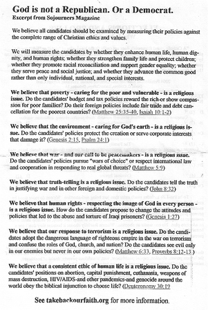 God is not a Republican. Or a Democrat.