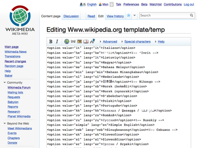 www.wikipedia.org is written like any Wikipedia article – almost.